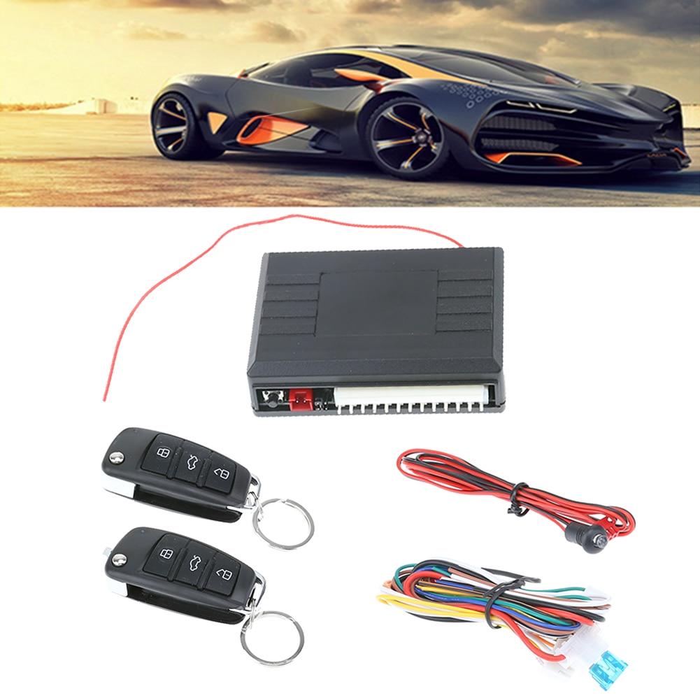New Car Alarm Auto Remote Control Central Locking Door Kit Keyless Entry System for Universal Car Burglar Alarm High Quality
