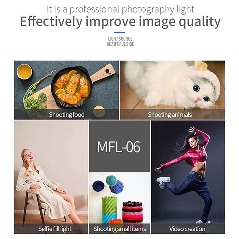 Manbily MFL-06 Dimmable Mini LED Video Light on Camera Light DSLR Fill Light 180 LED Photographic Lighting Lamp for Selfie Canon