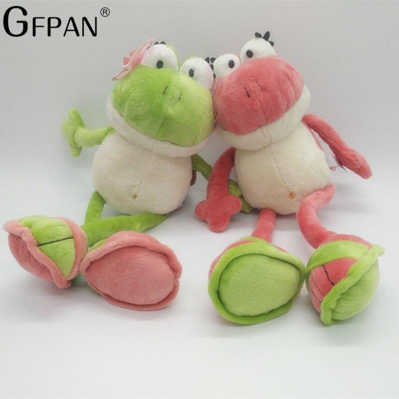 1 pcs 2 35 cm O Príncipe da Rã Rã Bonito Cores Suaves Brinquedos de Pelúcia Bichos de pelúcia de Presente de Aniversário das Crianças para As Meninas Do Bebê