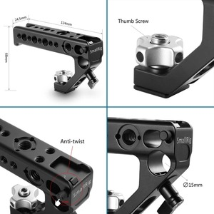Image 5 - SmallRig Cold Shoe Adapter Handle To Mount DSLR Cameras and Cages With Thumb Screws +15 mm Rod Clamp Universal Handgrip  2094