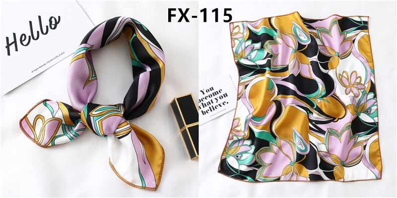 HTB12ylCb8WD3KVjSZKPq6yp7FXaC - Square Scarf Women Hair Tie Band for Party Elegant Small Vintage Skinny Retro Head Neck Silk Satin scarves handkerchief foulard