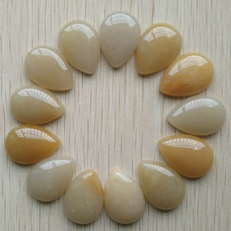 Wholesale 20pcs/lot 25x18mm fashion natural stone drop CAB CABOCHON beads for DIY jewelry accessories free shippping