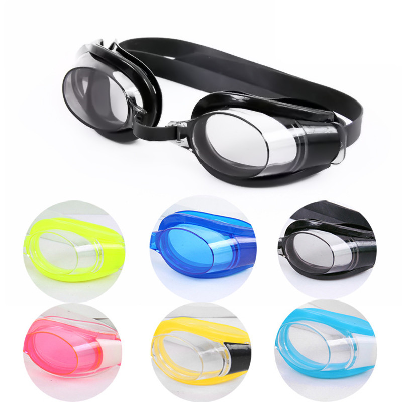 Kids Children Adjustable Waterproof Anti fog Swimming Glasses Goggles Outdoor Sports Swim Pool Eyewear & Ear Plugs Nose Clip