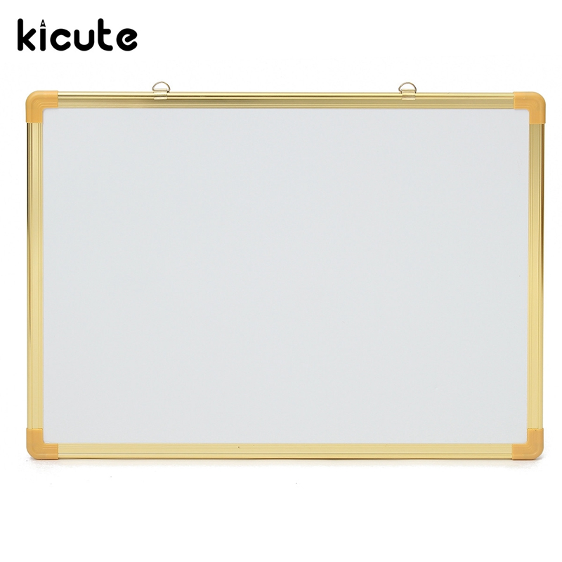 Kicute 1pcs New Arrival Notice Memo Board 500mm*700mm Double Side Writing Whiteboard Office Dry Erase Board And Magnetic Eraser 90 106cm onshine adjustable child double side wooden magnetic blackboard whiteboard kids writing drawing toy eraser chalk marker