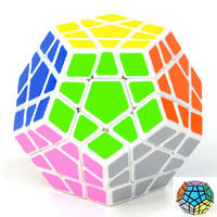 2014 High Quantity Shengshou Megaminx Dodecahedron Magic Cube Special Toys Black White Cubes Puzzles Toy Twist