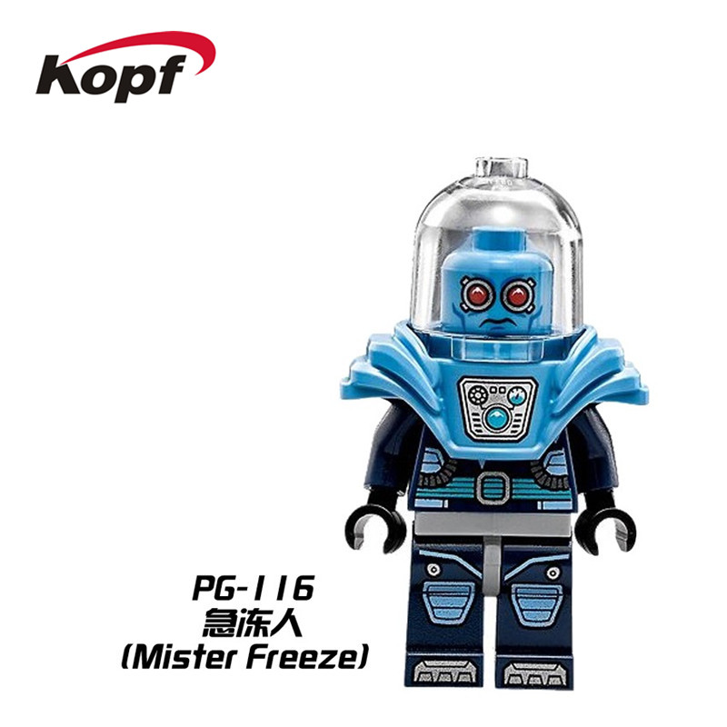 Single Sale Super Heroes Batman Movie Dolls Mr. Freeze Zebra Man Bricks Building Blocks Education Toys for children Gift PG116 single sale super heroes thor spiderman captain america batman hawkeye bricks action building blocks toys for children xh 004