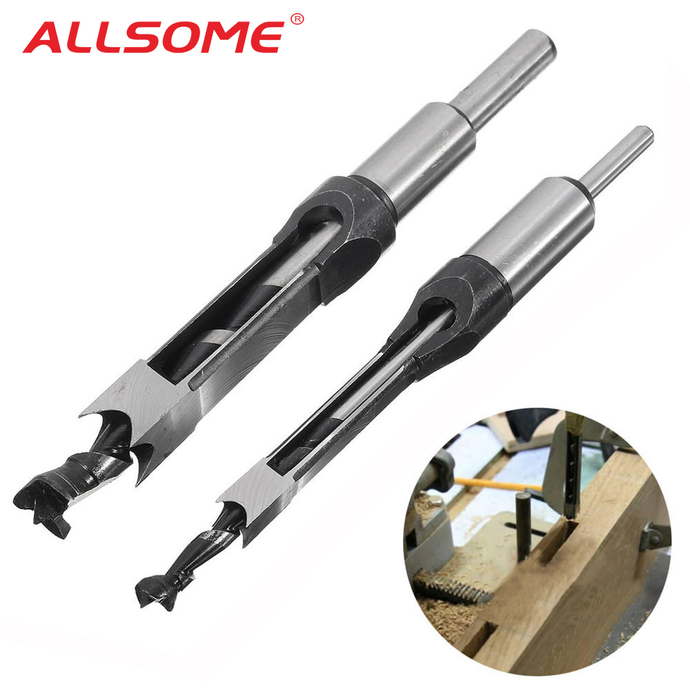 Hollow Square Hole Saw 6 6.4 8 9.5 10-16mm Mortiser Auger Drill Bit Woodworking