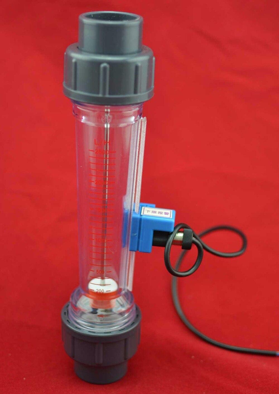 Rotamètre à eau à tube en plastique de LZS-25A avec alarme de débit avec limite inférieure (par défaut) ou limite supérieure
