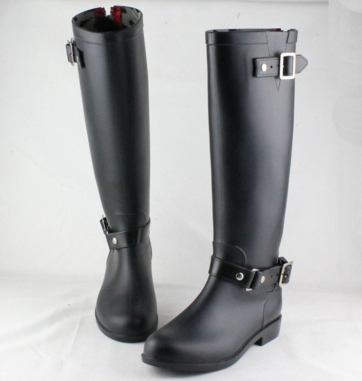Cute Black Rain Boots - Cr Boot