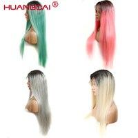 Ombre 1b/613 блонд парик фронта шнурка бразильский прямой парик человеческих волос предварительно сорвал с волосами младенца красочный парик шн