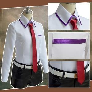 Image 4 - Steins Gate คอสเพลย์อะนิเมะญี่ปุ่นเกมคอสเพลย์ Kurisu Makise เครื่องแบบชุดเสื้อ Tie กระโปรง Custom Made