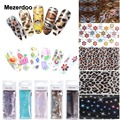 Mezerdoo Nail Art Transfer Foil Stickers Tips Women Beauty DIY Lace Leopard Pattern Nails Sky Paper Size 4cm*120cm
