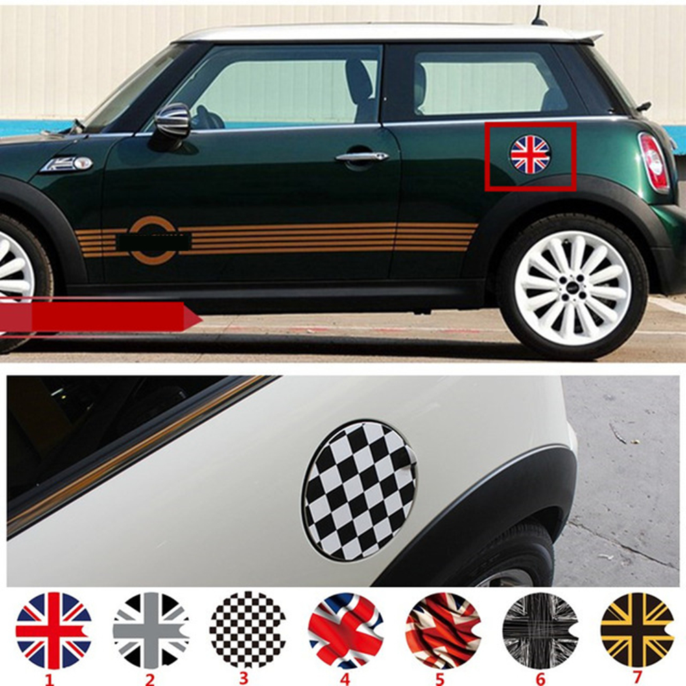 Fuel Tank Cap Sticker Oil tank Decals For BMW Mini Cooper S JCW Clubman Countryman R50 R52 R55 R56 R57 R58 R59 R60 R61 F55 F56 aliauto car styling side door sticker and decals accessories for mini cooper countryman r50 r52 r53 r58 r56