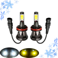 2pcs H7 Automobiles LED Dual Color Bulb Auto Fog Light H1 H3 H8 H9 H11 9005
