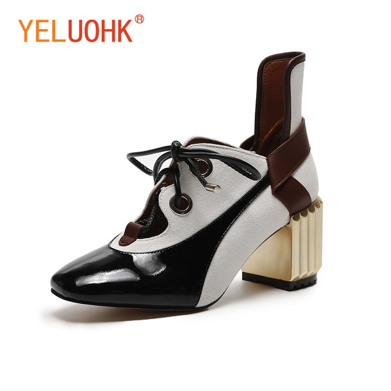 ba72d95c405d Genuine Leather High Heels Women 2018 Spring Shoes Heels High Quality Women  Pumps Female