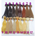 1pcs hair refires bjd hair 15cm*100CM black gold brown khaki white grey color short straight wig hair for 1/3 1/4 BJD diy