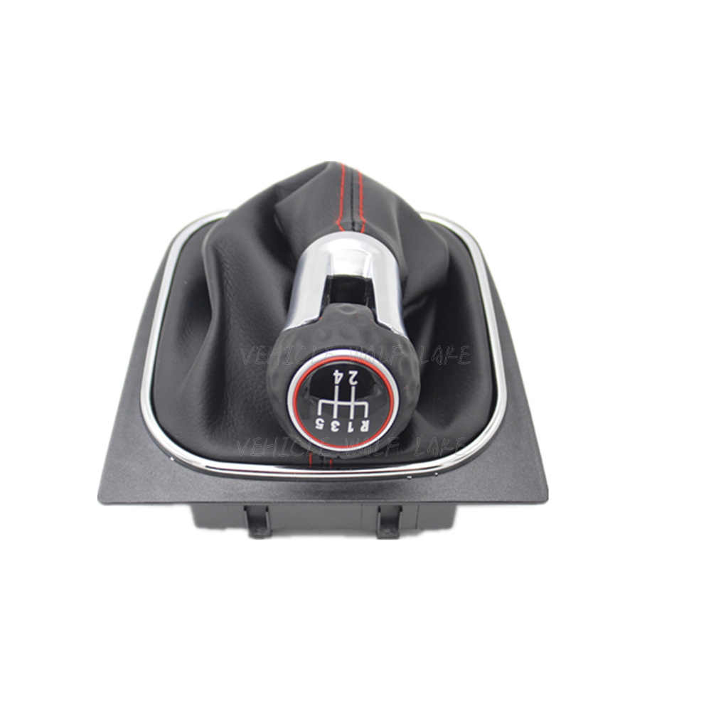 Vites Topuzu VW Volkswagen Golf 6 için MK5 MK6 5 hız 6 Hız Plastik Vites Topuzu Deri Gaitor önyükleme Araba Sopa