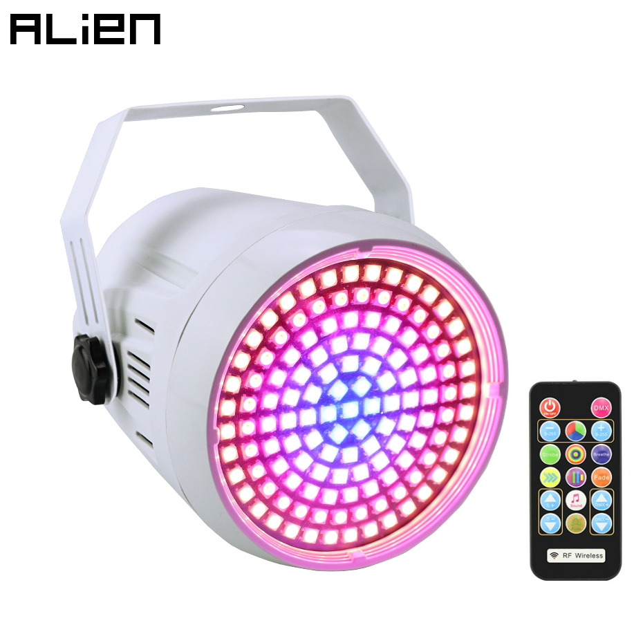 ALIEN DMX Sound Disco Colorful Strobe Stage Lighting Effect 127 LED RGB DJ Bar Holiday Party Christmas Light With Remote Control