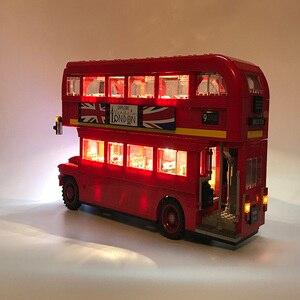 Image 2 - Juego de luces Led para Lego technic 10258 bloques de construcción de Londres, Compatible con 21045 Creator City Blocks, juguetes de regalo (solo luz LED)