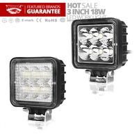 Free Shipping 3 Inch 18W Mini LED Work Light For Moto Driving Light Boat Car Tractor