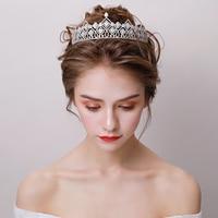 Micro Paved Cubic Zirconia Tiara Princess Crown Wedding Headpiece Hair Jewelry Bridal Hairband AAA Zircon Coronet Headwear Gifts