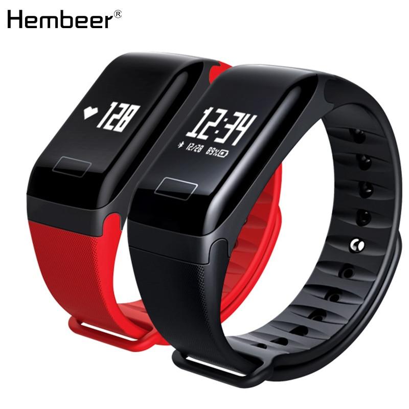 F1 сердечного ритма monitore Смарт браслет здоровья наручные часы сигнализации вызова вибрационный для xiomi Android и IOS Телефон
