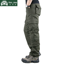 2019 New Cargo Pants Men High Quality Cotton Long Trousers M