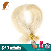 Addbeauty 1g/pc Straight Machine Made Remy Hair Extensions Blonde #613/#4/1B Color 50pcs/ Set Straight Keratin I Tip Human Hair