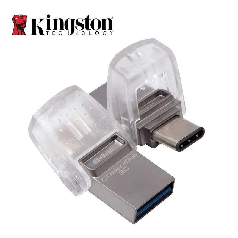 Kingston USB Flash Drive 64GB 32GB 16GB USB 3.1 Type-C Pendrive Disk Memory Stick Usb 3.0 Digital Data Traveler Micro Cle USB