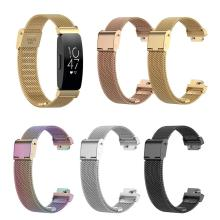 купить smart watch Hot Sale Adjustable Stainless Steel Watch Band Wrist Strap for Fitbit Inspire HR/ACE2 по цене 224.35 рублей