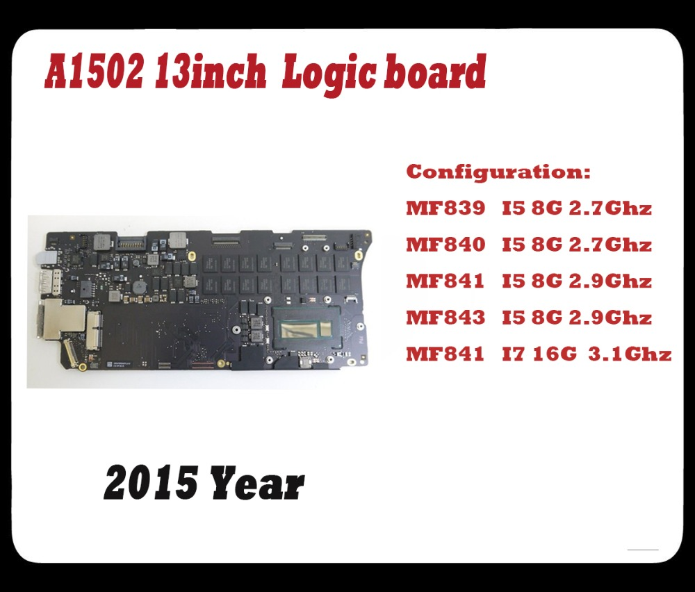 US $359 99 |Original Laptop A1502 motherboard for macbook pro retina 13inch  A1502 logic board MF841 I7 16g 3 1gHZ 2015 Year-in Laptop LCD Screen from