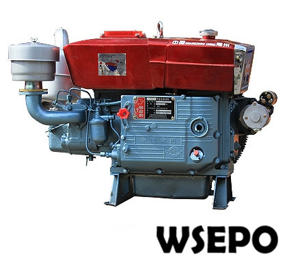 Factory Direct Supply! WSE-ZS1110 18HP Single Cylinder Water Cooled 4-stroke Diesel Engine with Electric Start factory direct supply wse 292f 997cc 25hp e start double cylinder air cooled diesel engine for generator pump air compressor