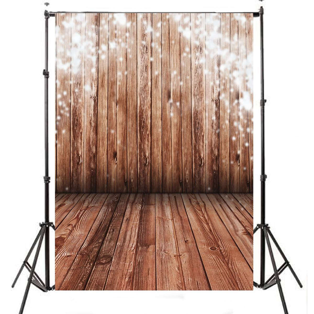 5x7FT Wood Wall Vinyl Photography Backdrop Photo Background Studio Props High Quality New Best Price christmas snow vinyl studio backdrop photography photo background 7x5ft