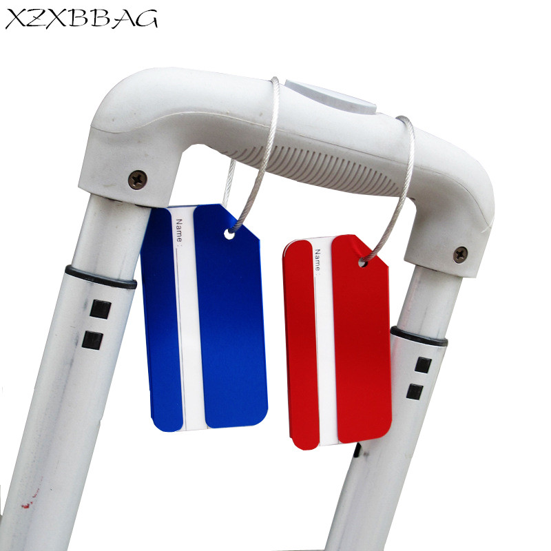 XZXBBAG Rectangles Boarding Check Luggage Tag Airplane Checking Baggage Name Label Suitcase Address Card Travel Accessories