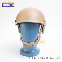 Militech CB High Cut Infantry helmet Level IIIA 3A Ballistic Aramid Bulletproof Helmet With 5 Years Warranty With Test Video