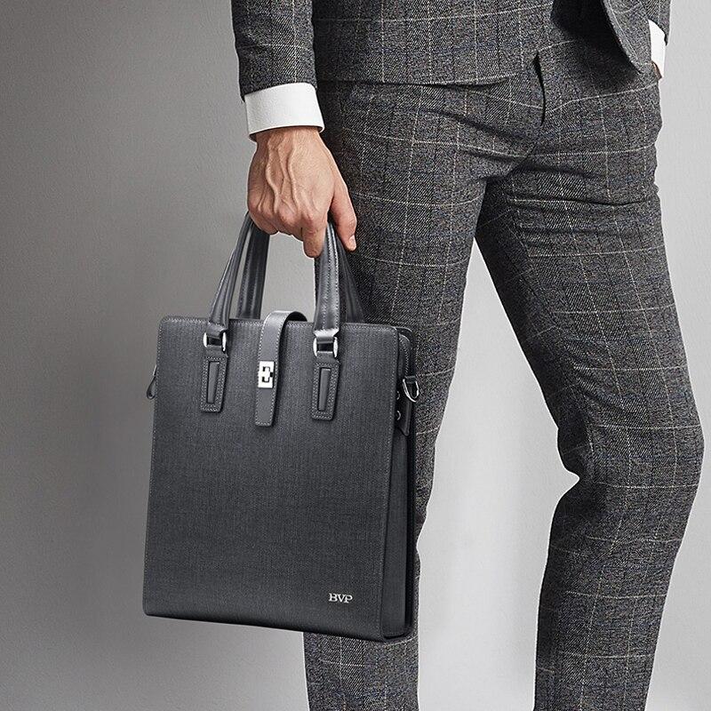 Di alta Qualità BVP Marca Genuine Leather Uomini D'affari Valigetta Con Shoulde Cinturino In Pelle di Mucca Grigio Maschio Valigetta Verticale J50