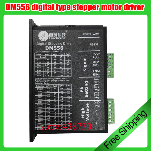 57 stepper motor driver digital type DM556 two phase stepper motor DSP digital drive 24 50VDC