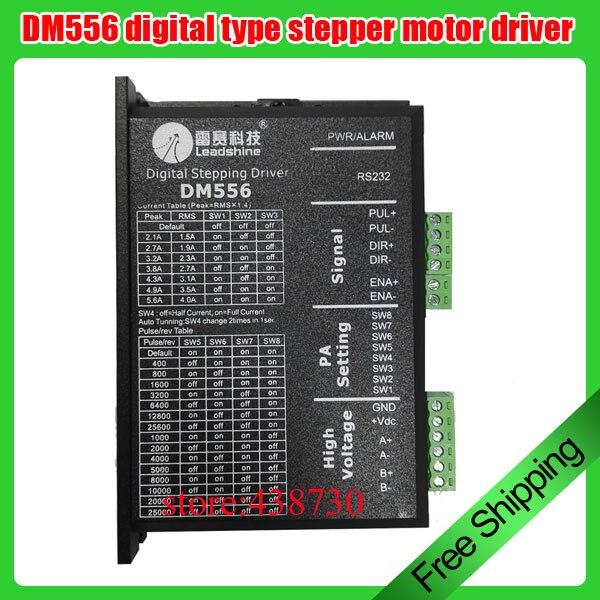 Entatial Controlador de Motor Paso a Paso DM556 Controlador de Motor Paso a Paso de 2 Fases Controlador de Motor Paso a Paso 42//57 24 V-50 V CC de bajo Ruido