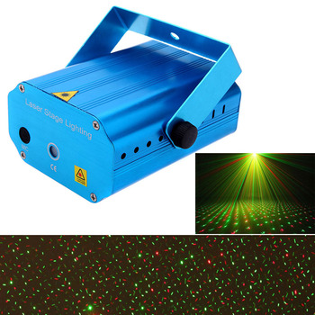 Mini LED Laser Projector Stage Lighting Effect Patterns Voice-activated DJ Disco Xmas Party Club Light Like starry sky 110-240V