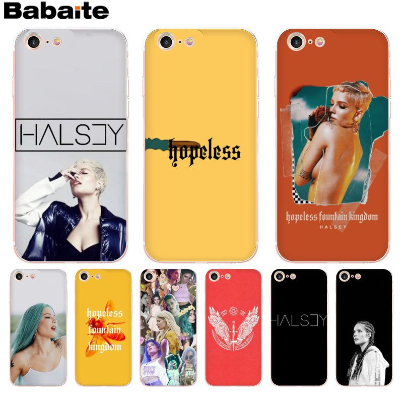 Yinuoda Halsey Hopeless Fountain Kingdom Novelty Fundas Phone Case Cover For Apple Iphone 8 7 6 6s Plus X Xs Max 5 5s Se Xr Case Half-wrapped Case