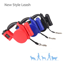2017 Pet Dog leash Retractable Three Function For Small Medium Dog leash Nylon leash lead Product Red Black 5M light ChiHuaHua