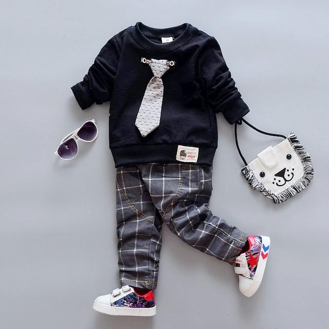 80430447fddf4 BibiCola Baby Clothes set Bebe Sport Suit Children Boy Fashion Clothing Set  2017 New Arrival Infant newbornShirt+Pants Suit