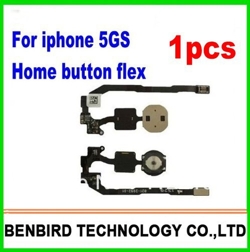 1pcs free shipping Repair Parts For Apple iphone 5S OEM Home Button Key Flex Cable replacement YL1305