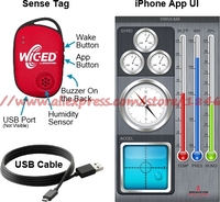 Free shipping BCM9WICED_SENSE WICEDSENSE BT SMART Sensor Kit
