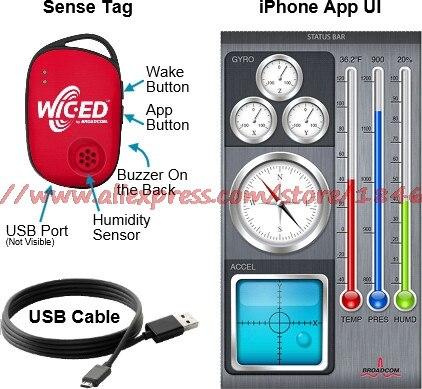 Livraison gratuite BCM9WICED_SENSE WICEDSENSE BT Kit de capteur intelligent