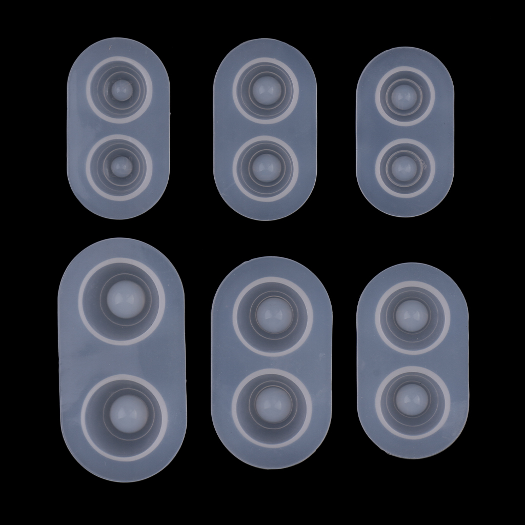 6Pcs BJD Doll Eye Silicone Mold Mould for DIY Dried Flower Resin Casting Craft
