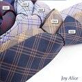 2017 Diseño de Moda Marca 6 cm corbata lazos de algodón para los hombres de la boda de rayas gravatas corbata lazo corbatas partido delgado T16-2