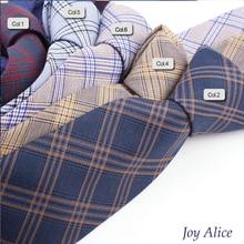 купить 2017 Fashion Design Brand 6 cm necktie cotton ties for Men wedding striped corbatas party slim gravatas tie Neck tie T16-2 дешево