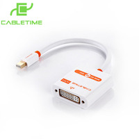 Cabletime Mini Displayport To DVI Male To Female Cable Adapter Gold Plated Interface Converter Adapter AV589