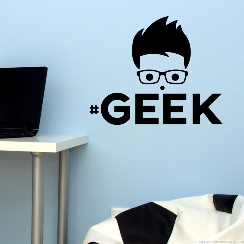Stickers geek muraux my blog - Nerd wallpaper for walls ...